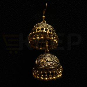 keep-Antique Classic Jhumka Golden