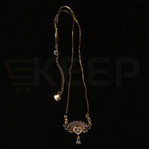 keep-Zirconia Locket with Crystal Bead