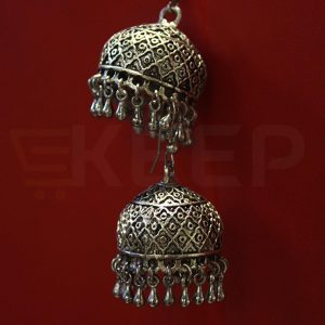keep-Antique Classic Jhumka Silver