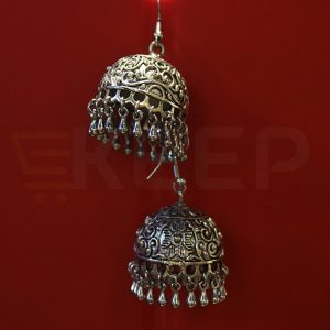keep-Antique Jhumki Silver