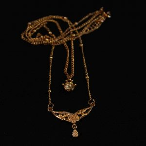 keep-Double Locket with Crustal beads