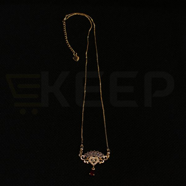 keep-Zirconia Locket with Crystal Red Bead
