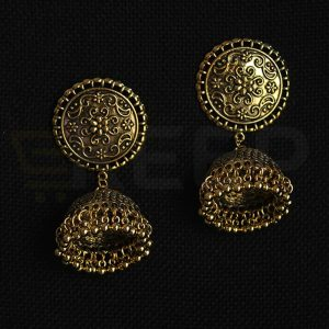 keep-Antique Turkish Jhumkas Golden