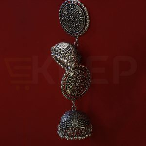 keep-Antique Turkish Jhumkas Silver