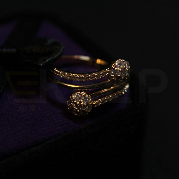 keep-Double Round Zirconia Cluster Ring