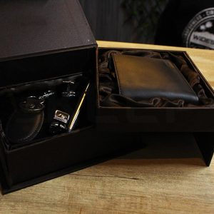 4 pcs genuine leather gift box