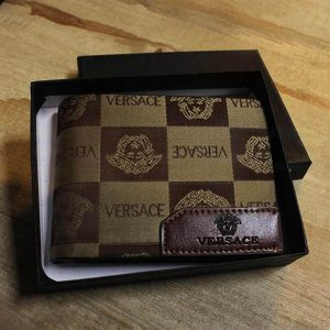keep-Versace leather purse